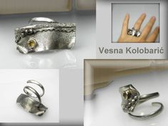 unique sculptured ring with citrine by VESNAjewelryART