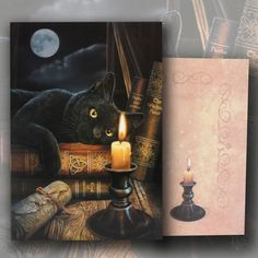 Witching Hour Greeting Card by Lisa Parker