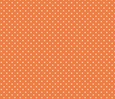 Spring_Cheater Quilt Orange___White_Polka_Dots fabric by ©_lana_gordon_rast_ on Spoonflower - custom fabric
