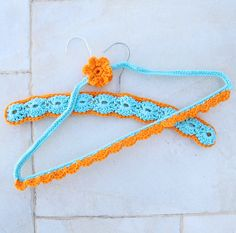 crocheted wire hangers