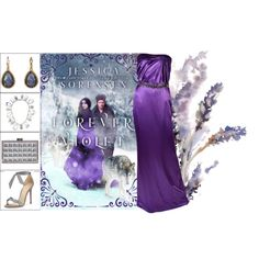 Book Look: Forever Violet By Jessica Sorensen by xmikky on Polyvore featuring Versace, Alexandre Birman, La Sera, Tom Binns and Lori's Shoes