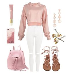 """""""Rose Gold Lover"""" by kaitiebug1111 on Polyvore featuring Topshop, Rebecca Minkoff and AERIN"""