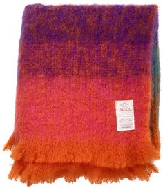 Ombre Throw Designed by Avoca Mill - Available in the Dwell Store Mohair Blanket, Textile Texture, Saturated Color, Textile Patterns, Textiles, Soft Furnishings, Icon Design, Color Pop, Colour
