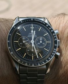 OMEGA Speedmaster Pro Limited Edition Moonwatch In Stainless Steel - https://omegaforums.net Omega Speedy Speedypro Speedmasterpro Menswear Mensfashion Wristshot Womw Wruw Horology Classic Timeless Watches Watchporn Fashion Style Preppy montres Uhren Orologio Chrono Chronograph Calibre861 Cal861 NASA Space Apollo Apollo11 Moon Moonwatch