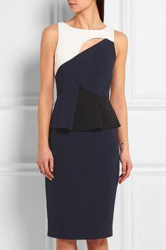 Roland Mouret | Clarence cutout stretch-crepe peplum dress | NET-A-PORTER.COM