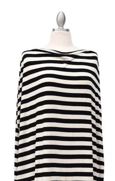 Classic Black & Ivory Stripe – Covered Goods. Multi functional nursing cover / car seat cover. Need this.