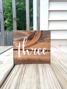 Wedding Calligraphy Table Numbers Rustic by WoodenThatBeSomethin