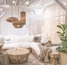Love this room, sheer curtains everywhere