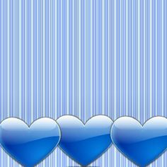 stripes hearts blue