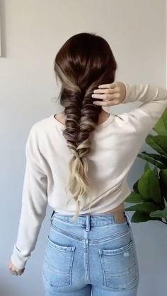 Easy Hairstyles For Long Hair, Bandana Hairstyles, Braided Hairstyles, Office Hairstyles, Anime Hairstyles, Stylish Hairstyles, Hairstyles Videos, Hairstyle Short, School Hairstyles