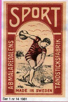 #Sport #labels #matches #tulitikkuetiketit #etiketit #Sweden Sweden, Vintage World Maps, Sports, How To Make, Hs Sports, Sport