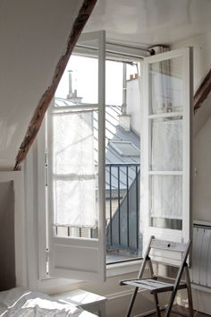 When I studied in London, a friend was studying in Paris. Her room looked exactly like this and we would sit out on that balcony for hours on end, drinking wine, eating baguettes and brie and smoking cigarettes. Those are good memories.