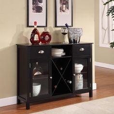 InRoom Designs Buffet Server / Wine Rack $201.67 great seller, great reviews