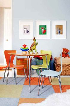 I love this bright playroom!