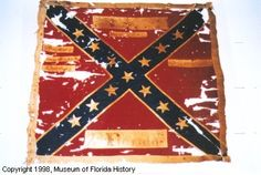 Battle flag of the 2ND REGIMENT Florida Volunteer Infantry. St. Andrew's cross design; square format.