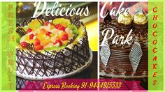 #Fresh fruit #cake made with Orange, strawberries and kiwi. We provide a large variety of cakes like exotic cake, 3D cakes, Ferrero Ecstacy, Mousse cakes etc.  Check out our site to know more varieties available at Cake Park.