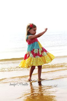 Twirl Dress for Girls Having Fun many childrens by Sunloveshirts, $54.00