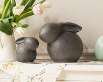 """Figur """"Kugelhäschen"""", Set im Online Shop bei Frank Flechtwaren Rabbit Sculpture, Art Sculpture, Sculptures, Ceramic Clay, Ceramic Pottery, Pottery Art, Pottery Animals, Ceramic Animals, Clay Crafts For Kids"""