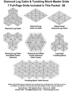 Google Image Result for http://www.flavinglover.com/Order_Forms/Master_Diamond_Log_Cabin_Grid_Sheets-4-8-12.jpg