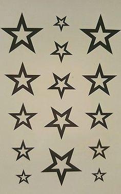 Tattoo ⭐STERNE Schöne Sterne 10*5 cm körperschmuck: 9368nicole