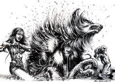 Ron Spencer Werewolf Art #9