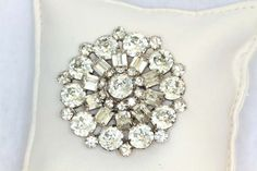 Weiss Vintage Rhinestone Pin | More here: http://mylusciouslife.com/photo-galleries/bling-fling/