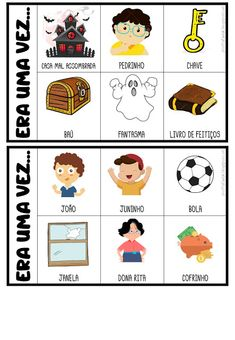 FICHAS PARA PRODUÇÃO DE TEXTO Story Cubes, Learn Portuguese, File Folder Games, About Time Movie, Working With Children, Stories For Kids, Conte, Speech Therapy, School Projects