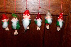 Weihnachtswichtel, Weihnachtsbaumschmuck,gefilzt von Frau Brunsels Filz auf DaWanda.com