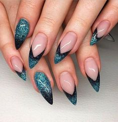 Both long nails and short nails can be fashionable and beautiful by artists. Short coffin nail art designs are something you must choose to try. They are one of the most popular nail art designs. Today, in this article, we have collected 40 stylish Fancy Nails, Trendy Nails, Hot Nails, Hair And Nails, Stiletto Nails, Glitter Nails, Glitter Converse, Glitter Makeup, Crome Nails