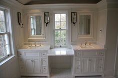 Vanities and Millwork - traditional - bathroom - boston - by Toby Leary Fine Woodworking Inc.