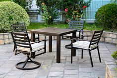 Westfield Sherwood dining set from #Hanamint available at #Stauffers #Rohrerstown and #Mechanicsburg #Patio Showrooms.