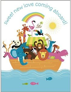 Noah's Ark Baby Shower Invitations (Pkg of 8)