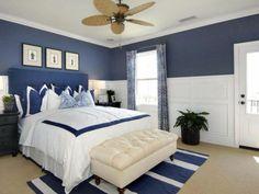 innendesign blau und weiß schlafzimmer ideen weiße bettdecke, Schlafzimmer design