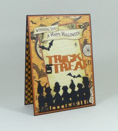 Trick or Treat Halloween card by Paula using Graphic 45 Steampunk Spells papers for the Calico Crafts design team.