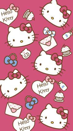 Hello Kitty Imagenes, Hello Kitty Makeup, Hello Kitty Coloring, Hello Kitty Tattoos, Hello Kitty Backgrounds, Disney Fabric, Kitty Images, Kawaii Accessories, Hello Kitty Birthday