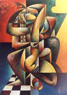 1992, oil on canvas, #7 «A Kiss»