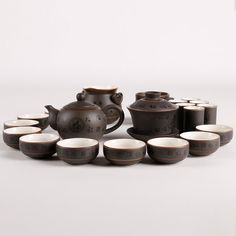 Hand Made Porcelain Tea Set with Chinese by kongfuteaware on Etsy