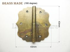 2 pcs Brass made 43mmX43mm crown metal hinges parliament hinges jewelry box hinges decorative hinges VH0067 by LittleHardware on Etsy