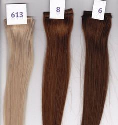 """14"""" Silky Straight 100% Human Hair Clip On In Extension 6"""" Wide Piece Color 8 Medium Brown by Aramas. $8.99. 100% Human Hair Clip In Extensions. Ready To Wear, Clips in a few minutes. For any Occasion or Everyday Use. 14"""" Silky Straight. 100% Human Hair Clip In Extensions, 14"""" Length, 6"""" Wide Piece, add color or volume to your hair.  Silky Straight  Clip in takes just a few minutes, Fast and quick way to get fuller hair or add color for any occasion, or everyd..."""