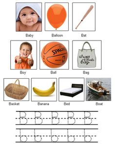 Assignments Made Easy: Picture of Objects Starting with Letter B Letter B, Kids Learning, Make It Simple, Preschool, Objects, Education, Easy, Pictures, Kids