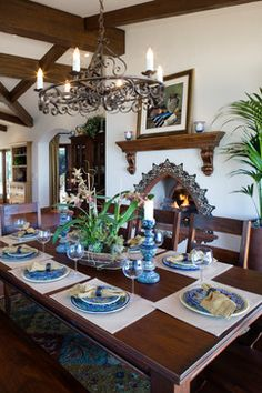 Eads Residence - mediterranean - dining room - orange county - James Glover Residential & Interior Design