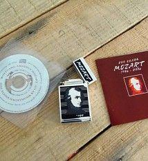Feuerzeug Sonderedition 250 Jahre Mozart + CD, ovp. NEU