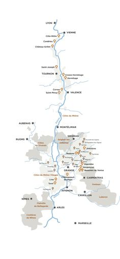 Map of Rhone Wines