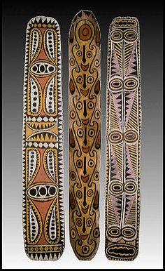 New Guinea Ceremonial Shields