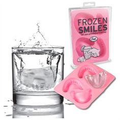 New Frozen Smiles Ice Cube Tray Denture Mold Party Fun 1 of 2