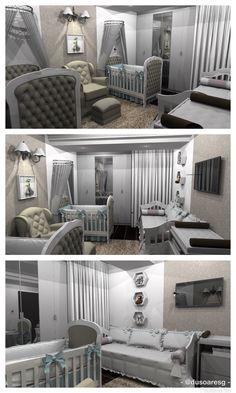 Proposta de quarto para casal de gêmeos, seguindo padrões neutros e estilo clássico.