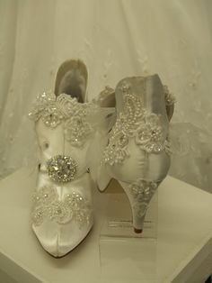 www.etsy.com, Victorian Wedding Boots VintageModern Inspired. $399.00, via Etsy. bride, bridal, bridal shoes, wedding shoes