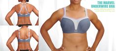 Best for those with a small rib cage and large breasts, this bra converts to an x-back using a j-hook. Available in sizes 32-38 D, DD, E(3D), F(4D) #Panache #convertiblebra