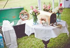 18 Things You Can Use For A Card Box At Your Reception | Photo by: Mark Williams Studio | TheKnot.com