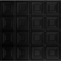 Decorative Ceiling Tiles, Inc. Store - Dimensional Squares - Faux Tin Ceiling Tile - Glue up - - Plastic Ceiling Tiles, Faux Tin Ceiling Tiles, Tin Tiles, Ceiling Grid, Black Ceiling, Behr Colors, Get Rid Of Mold, Black Tiles, Grid System